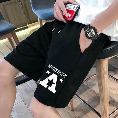 夏季薄款运动休闲短裤男宽松直筒五分裤男潮牌潮流网红ins沙滩裤