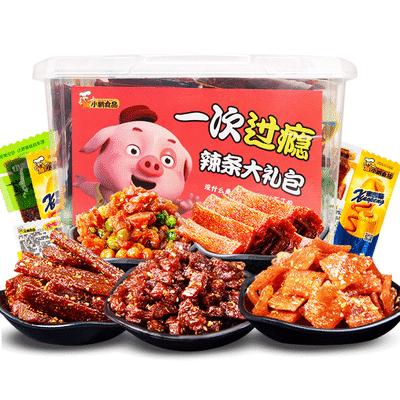 小鹏食品网红辣条大礼包零食混搭散装休闲面筋小吃送女友吃货礼盒