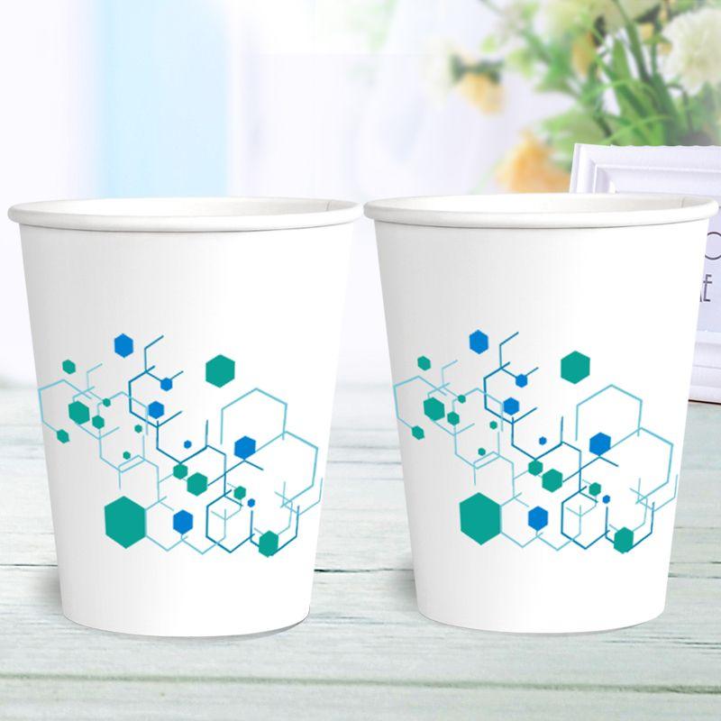 特价纸杯一次性杯子加厚口杯批发商用家用办公可定制logo整箱包邮的细节图片4
