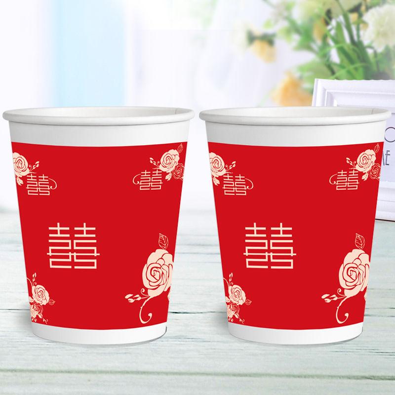 特价纸杯一次性杯子加厚口杯批发商用家用办公可定制logo整箱包邮的细节图片9
