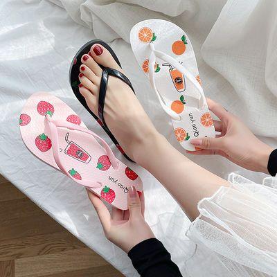 2020新款水果女人字拖鞋夏季学生韩版外穿时尚防滑网红ins女拖鞋