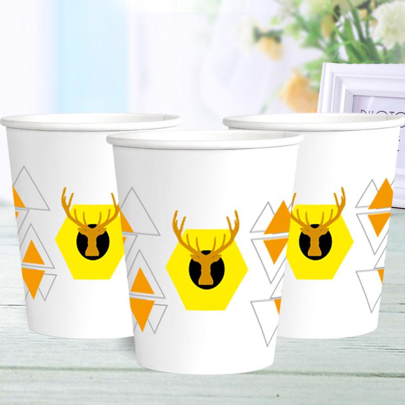 特价纸杯一次性杯子加厚口杯批发商用家用办公可定制logo整箱包邮的细节图片5