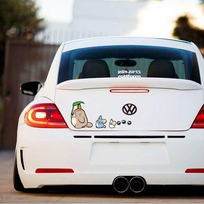 笑动物贴纸车身汽车划痕贴玻璃装饰贴龙猫车贴个性动漫卡通创意搞