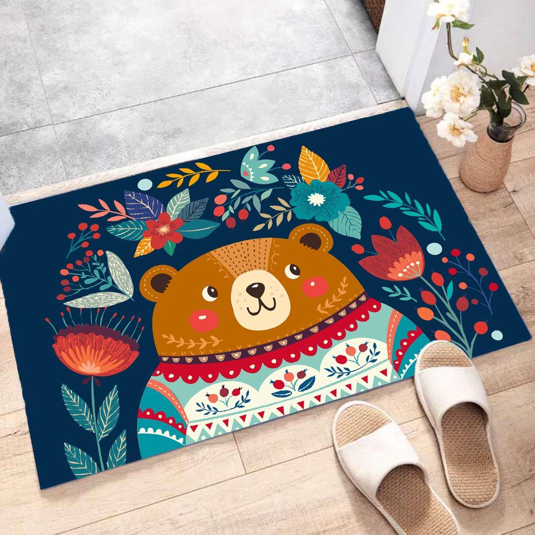 可爱卡通地毯地垫入户门垫脚垫地毯卧室卫生间防滑垫吸水厨房地垫