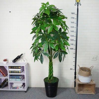 装饰绿色绿植物落地绢花盆栽塑料盆景仿真树发财树 假树假花客厅