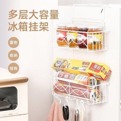 冰箱挂架厨房卫生间置物架侧壁侧面免打孔收纳架多功能调料储物架