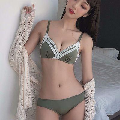 内衣女无钢圈小胸聚拢调整型文胸薄款日系少女法式无痕上托胸罩杯