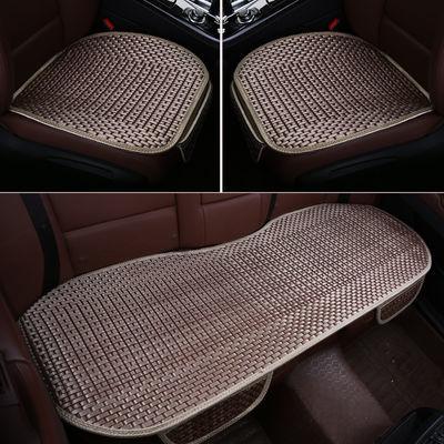 夏季冰丝汽车坐垫三件套单片凉垫无靠背四季通用车垫防滑免绑座垫