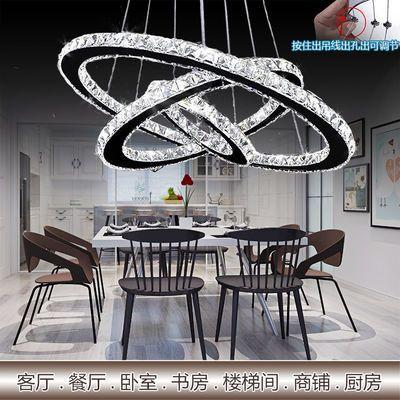 led吊灯餐厅客厅卧室水晶吊灯具简约创意家用别墅新款大厅吊灯饰