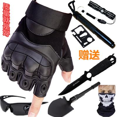 吃鸡半指手套男战术夏防滑格斗半截运动摩托车手套特种兵黑鹰