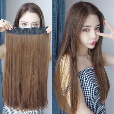 假发女长发接发片一片式假发片假发女仿真发直发片隐形无痕长直发