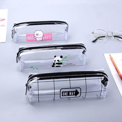 初中生大容量铅笔盒潮韩版简约透明考试笔袋小学生文具盒男生女孩
