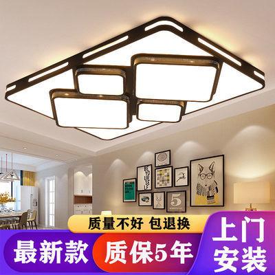 大灯2020年新款长方形led吸顶灯简约现代大气北欧卧室灯具