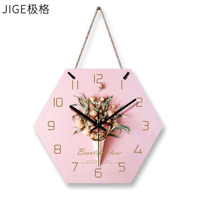 【摆挂挂绳三用】客厅钟表创意简约静音卧室挂钟美容院时尚装饰表