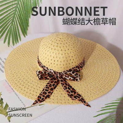 夏天农民防晒防紫外线大帽檐草帽女网红新款韩版时尚百搭沙滩帽子