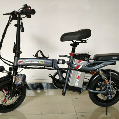 粤狼 新国标折叠电动自行车 代驾 小型电瓶锂电池助力代步迷你