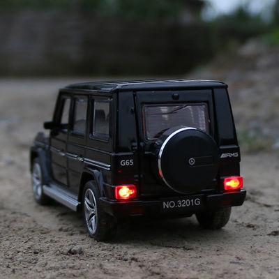 奔驰大g模型G65越野车儿童玩具车声光回力合金车模仿真小汽车模型
