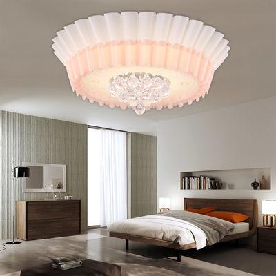 LED卧室灯温馨浪漫房间灯吸顶灯简约现代创意婚房灯儿童羊皮灯具