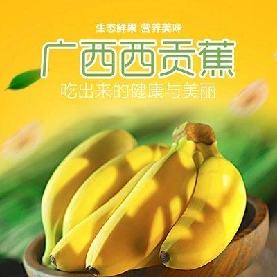 广西产地直销西贡蕉粉蕉自然熟小米蕉绿色新鲜水果八成熟蕉发包邮