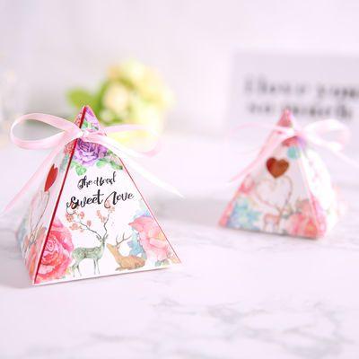 家居1174050/100个装三角喜糖盒糖果盒批发创意个性糖盒纸盒婚庆