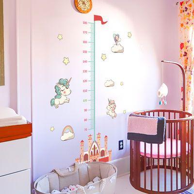童身高墙贴纸可移除卡通动画背景贴画拼音字母表宝宝乘法口诀表儿