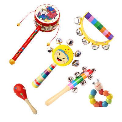 新生婴儿沙锤摇铃早教益智手铃宝宝抓握训练玩具0-6-8-12个月幼儿