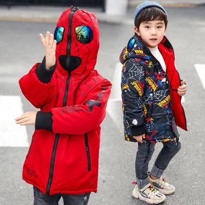 男童棉服童装卡通棉衣儿童蜘蛛侠衣服冬装棉袄秋冬加厚男孩外套潮