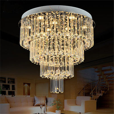 大厅水晶吊灯客厅灯圆形 别墅楼梯灯 卧室灯餐厅灯服装店吊灯现代