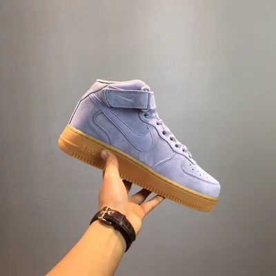韩版新款空军一号香芋紫板鞋ins高帮运动鞋aj1女鞋低帮小白鞋学生