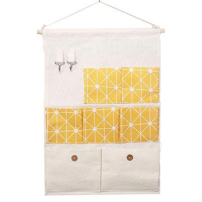 居【送挂钩】限时亏本300件棉麻布艺收纳袋墙上壁挂门挂袋萌蒂家