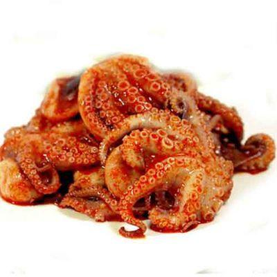 即食麻辣八爪鱼八带海鲜小章鱼足须乌贼360克易拉罐装包邮