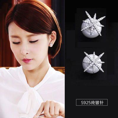 赵丽颖同款耳钉女925银针微镶锆石耳饰珍珠耳环你和我的倾城时光