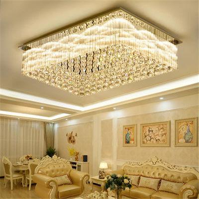 卧室吸顶灯水晶灯大气LED现代简约餐厅灯温馨浪漫房间灯轻奢灯具