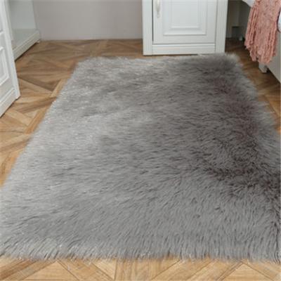 沙发毯白色长毛绒地毯整张羊皮羊毛垫客厅卧室飘窗垫仿澳洲羊毛