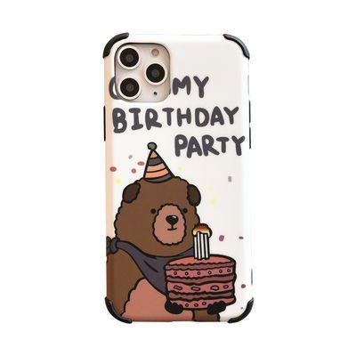 生日小熊防摔苹果11promax手机壳iphonexu002Fxs女款7pu002F8pl