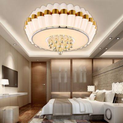 LED灯具简约现代圆形卧室灯浪漫田园吸顶灯圆形儿童房灯书房灯
