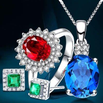 【姐妹珠宝】翡翠玉石蜜蜡文玩水晶珠宝彩宝莫桑手链吊坠戒指手镯
