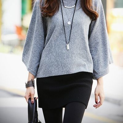 新品春季韩版女装半身裙毛线包裙裹裙迷你包臀裙短裙子针织一步裙
