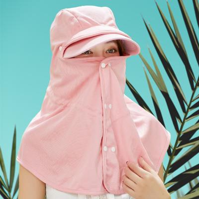 遮脸遮阳帽女夏天户外防风防晒太阳帽子百搭骑车护颈凉帽防紫外线