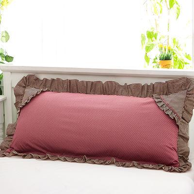 双人枕套12米花边拉链款15米婚庆双人枕头套18米加长