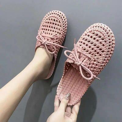 新款凉拖鞋女夏季包头镂空洞洞鞋时尚室外穿软底沙滩鞋浴室拖鞋