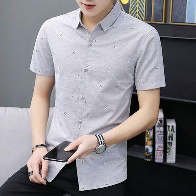 短袖衬衫男夏季新款潮流半袖韩版男装帅气衬衣夏天上衣服男士寸衫