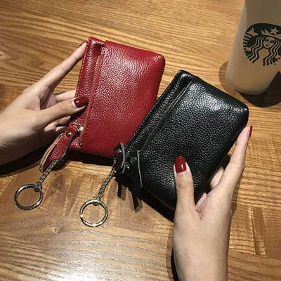零钱包女迷你小方包可爱韩国真皮零钱袋拉链手拿小钱包女硬币包女