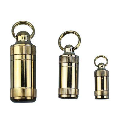 金属药盒黄铜迷你防水仓随身携带密封防水防潮急救药小药瓶