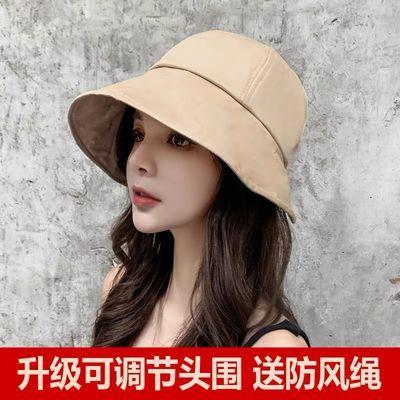 渔夫帽女夏季日系韩版潮百搭度假遮阳防晒防紫外线夏天太阳帽子