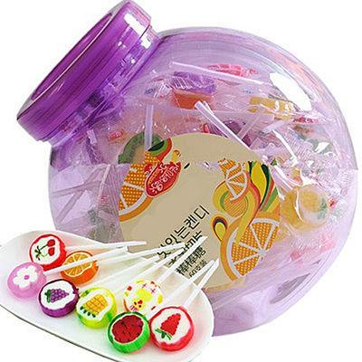 全新包装韩式手工棒棒糖水果口味混合装切片糖硬糖情人节生日礼物