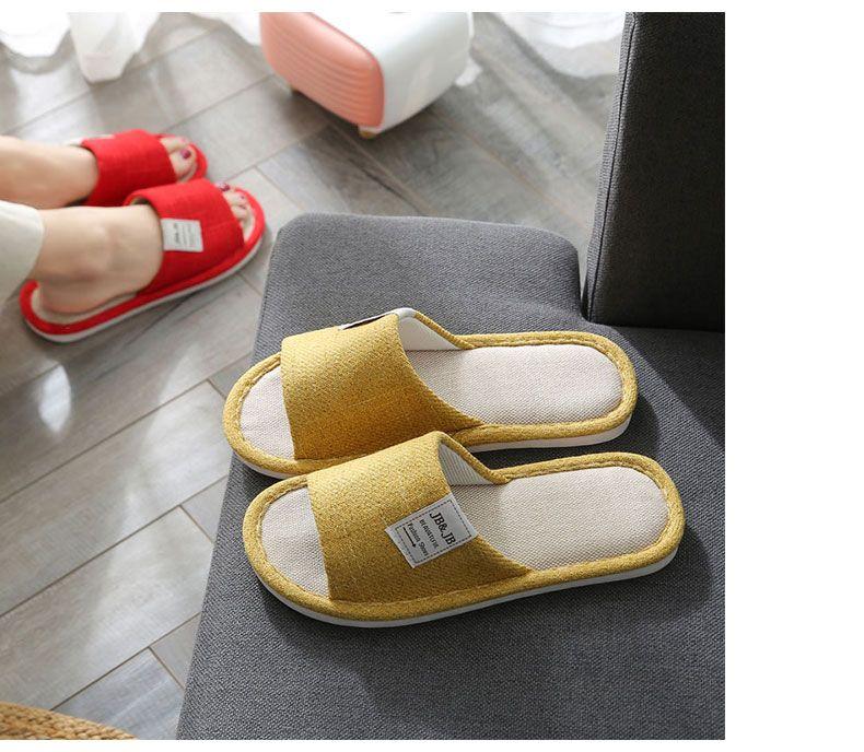 居家棉鞋買一送一亞麻拖鞋女棉麻室內家用防滑加厚軟底四季春秋情侶拖鞋男