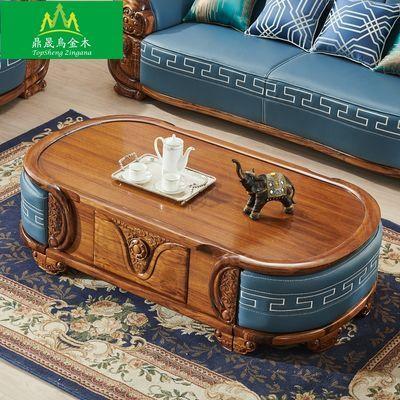 欧式古典非洲进口乌金木茶几电视柜高端别墅大户型沙发组合家具