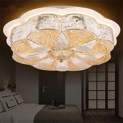 led吸顶灯卧室灯具圆形客厅灯现代简约大气家用高档欧式遥控婚房