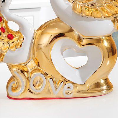 新款天鹅摆件花瓶家居装饰品电视柜酒柜客厅结婚礼物乔迁创意房间